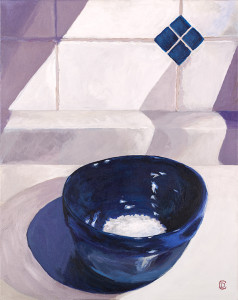 """Title: """"Blue Bowl / White Rice"""" 
