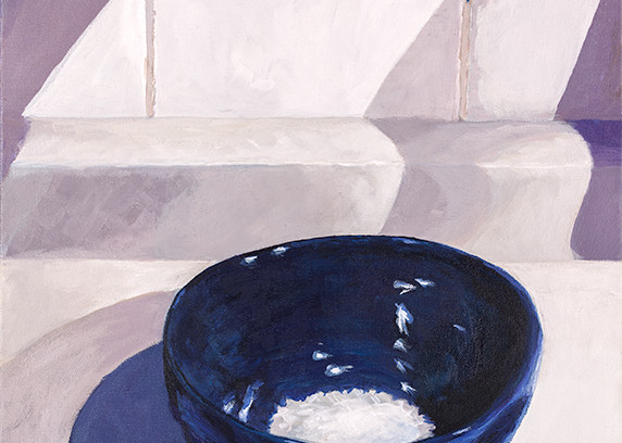 "Title: ""Blue Bowl / White Rice"" 