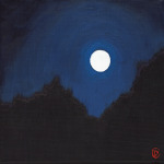 "Title:  ""Nocturne"" / Acrylic on canvas, by NH artist Denise Clark"