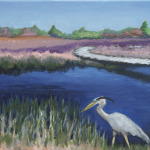 "Title: ""Spring at Parker River"" / Acrylic on canvas, by NH artist Denise Clark"