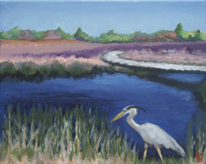 """Title: """"Spring at Parker River"""" / Acrylic on canvas, by NH artist Denise Clark"""