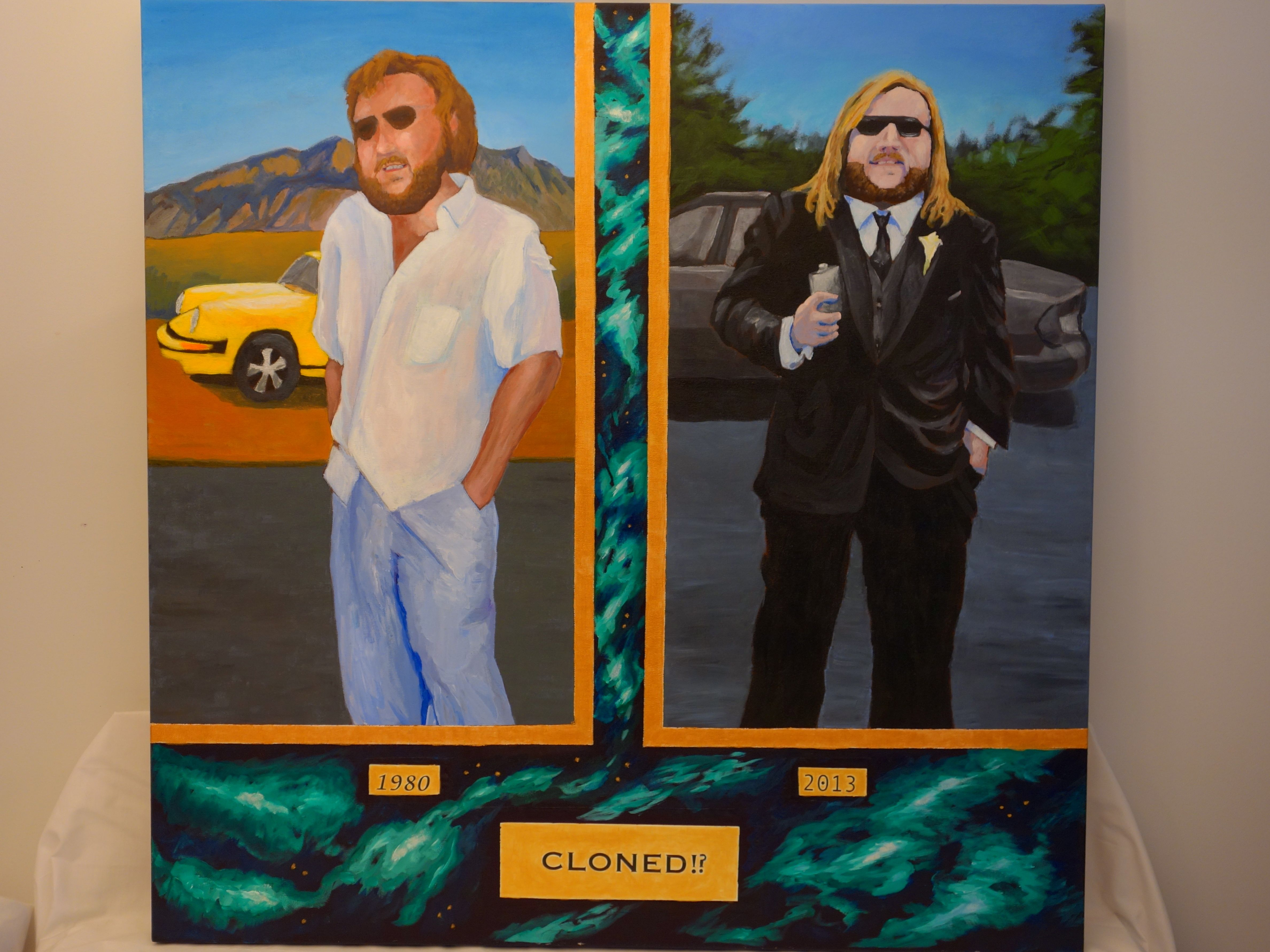 """Title: """"Father and Son"""" / Acrylic on Canvas, by NH artist Denise Clark"""