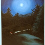 "Title: ""I Drive Alone"" / Acrylic on canvas, by NH artist Denise Clark"