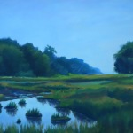 "Title: ""Maine Salt Marsh"" / Acrylic on canvas, by NH artist Denise Clark"