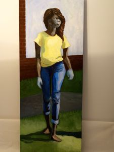"""Title: """"Nubia"""" / Acrylic on canvas, by NH artist Denise Clark"""