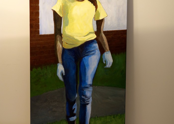 "Title: ""Nubia"" / Acrylic on canvas, by NH artist Denise Clark"