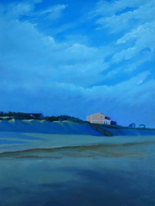"Title ""La casita playera"" / Acrylic on canvas, by NH artist Denise Clark"